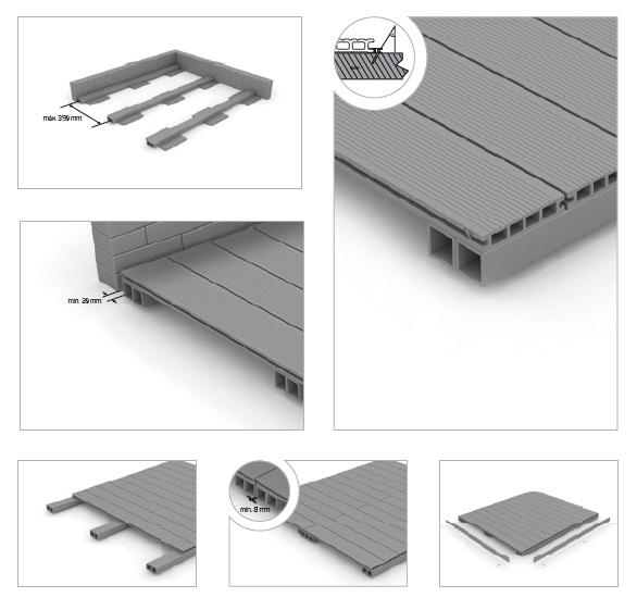 montaje floorout
